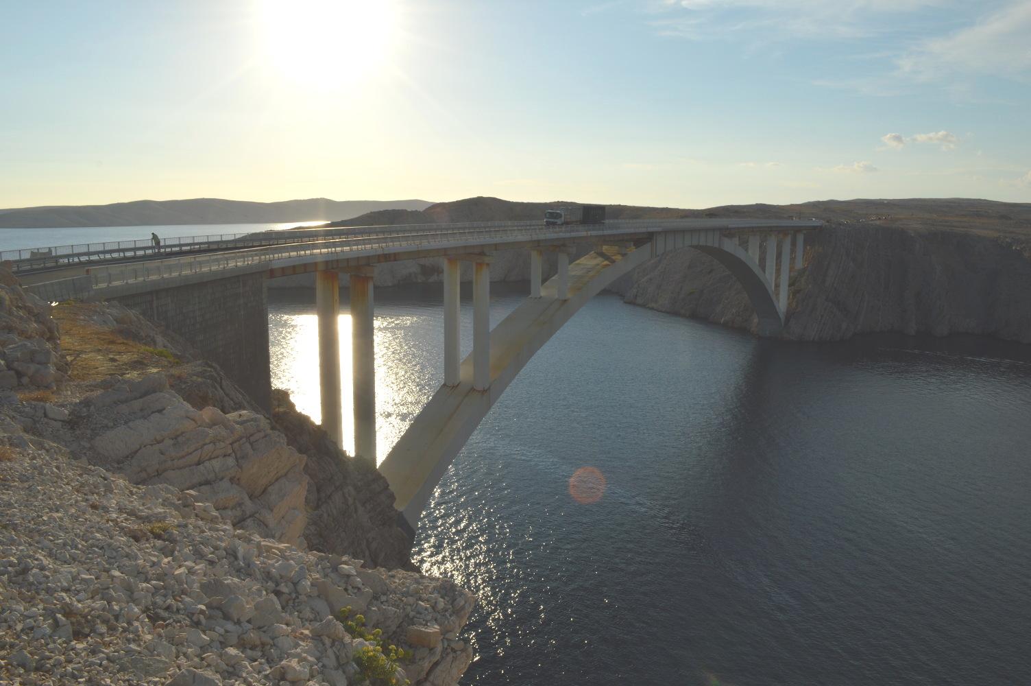Anfahrt Brücke
